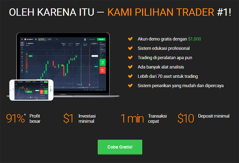 cara main iq option